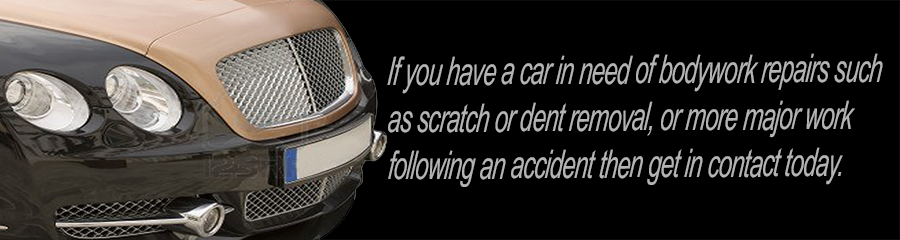 If you have a car in need of bodywork repairs such as scratch or dent removal, or more major work following an accident then get in contact today.