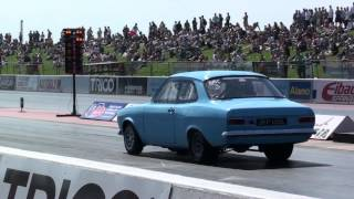 Cosworth Twin Turbo Drag Car at Santa Pod Raceway.
